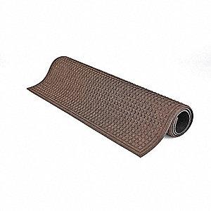 Brown Dual Fiber Carpet, Entrance Mat, 3 ft. Width, 5 ft. Length