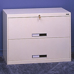 File Cabinet,36 in,2 Drawer,Putty