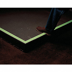 "Glow-in-the-Dark Anti Slip Marking Tape, Solid, Roll, 2"" x 60 ft., 1 EA"