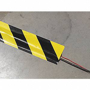 Cable Protector, Black and Yellow, Connection Style: Flat, Load Capacity: Not Specified