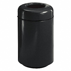 20 gal. Round Black Open-Top Trash Can