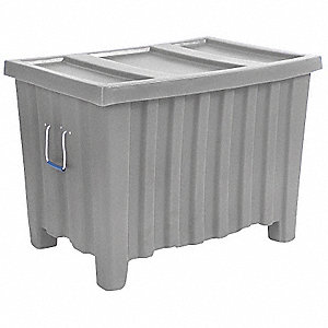 Container,14 cu.-ft.,500 lbs.,Gray