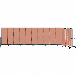 Partition,24 Ft 1 In Wx6 Ft 8 In H,Beige