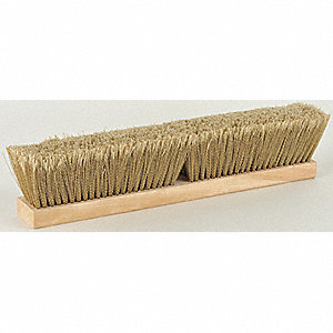 "Gold Flag Styrene Push Broom, Block Size 18"", Fine Bristles Block Material"
