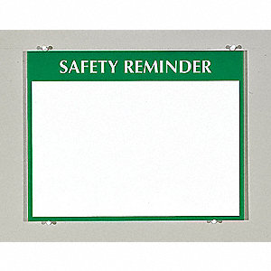 Safety Sign,8-1/2 x 11In,GRN/WHT,PLSTC