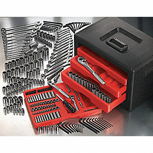 SAE and Metric Master Tool Set, Number of Pieces: 521, Primary Application: General Purpose