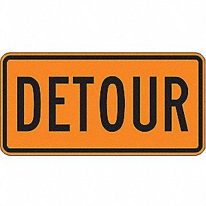 Lyle detour sign 15 x 30in bk orn detour 9khv6 m4 8 30ha grainger