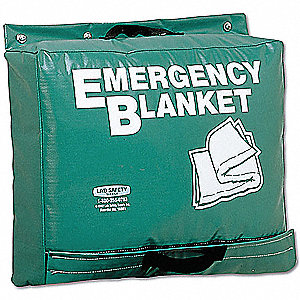 Emergency Blanket,Green,70 In. x 82 In.