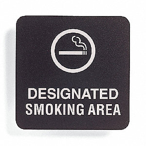 Smoking Area Sign,5-1/2 x 5-1/2In,ENG