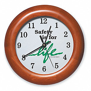 Wall Clock,12 In,Safety is for Life