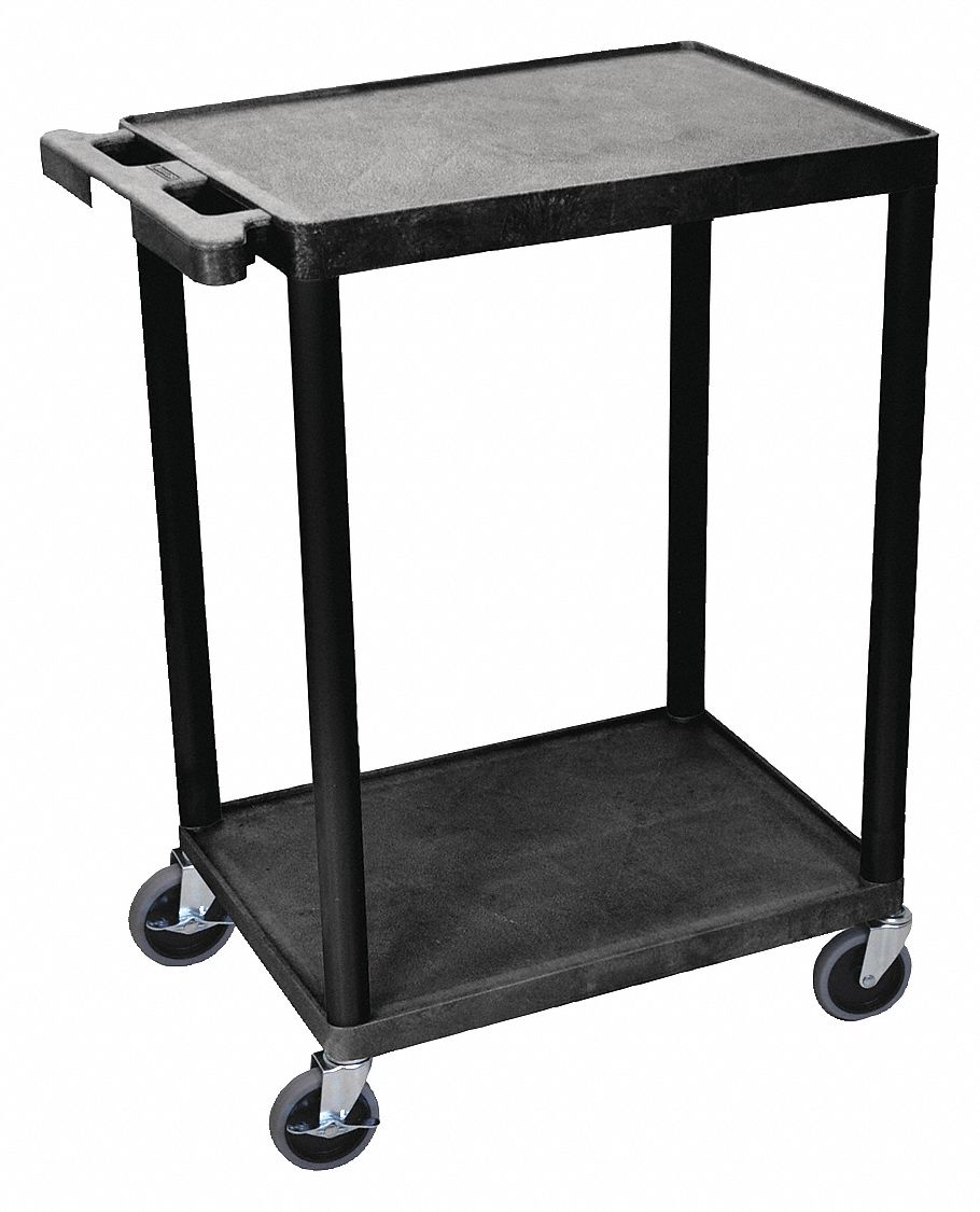 Factory Utility Cart: GRAINGER APPROVED Thermoplastic Resin Flat Handle Utility