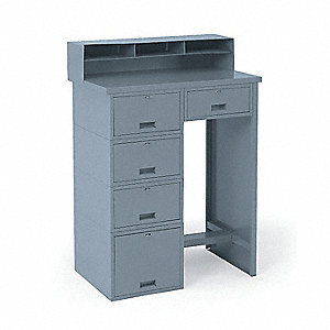 Shop Desk,33 x 53 x 20 In,Gray