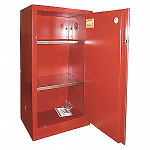 Paints and Inks Cabinet,20 Gal.,Red