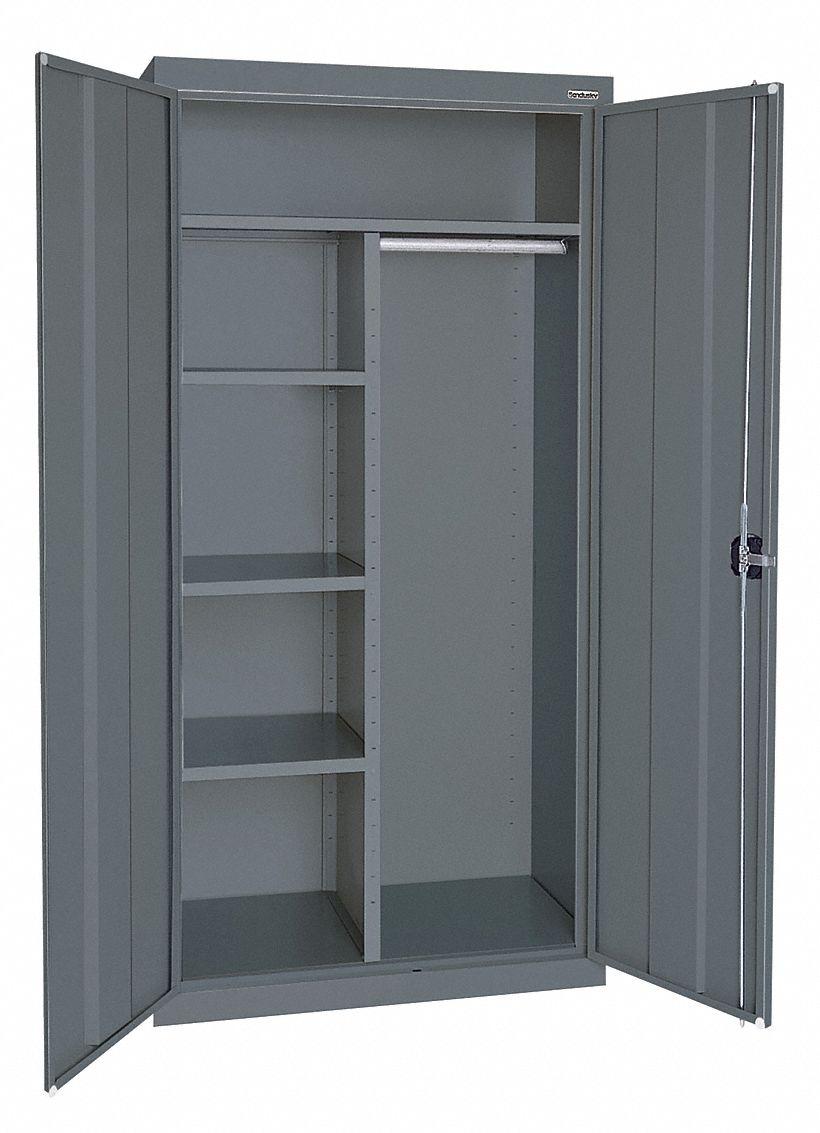 Sandusky Commercial Storage Cabinet Gray 72 Quot H X 36 Quot W X