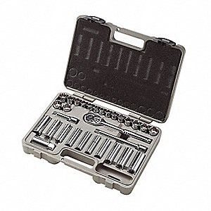 "3/8"" Metric and SAE Socket Wrench Set"