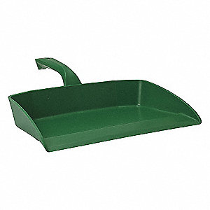 "Polypropylene Hand Held Dust Pan, Overall Length 11-1/2"", Overall Width 11-1/2"""