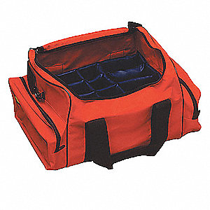 "Trauma Bag, Nylon, Orange,20""x12-1/2""x9"""