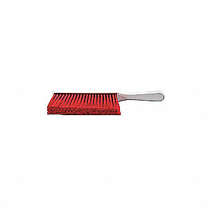 Red Resin Set Bench Brush, Overall Length 14""