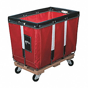 "Permanent Liner Basket Truck, 12.0 Bushel Capacity, 26"" Overall Width, 36"" Overall Length"