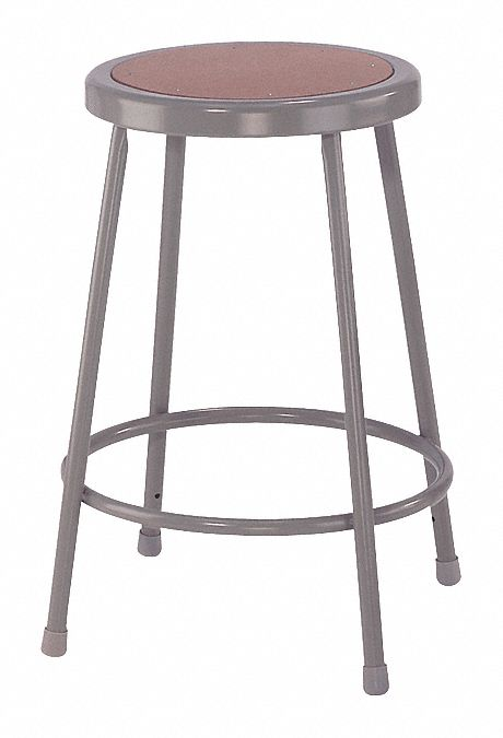 National Public Seating Round Stool With 24 Quot Seat Height