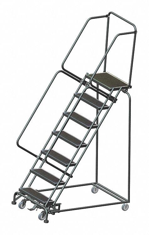 Ballymore 7 Step Rolling Ladder Abrasive Mat Step Tread