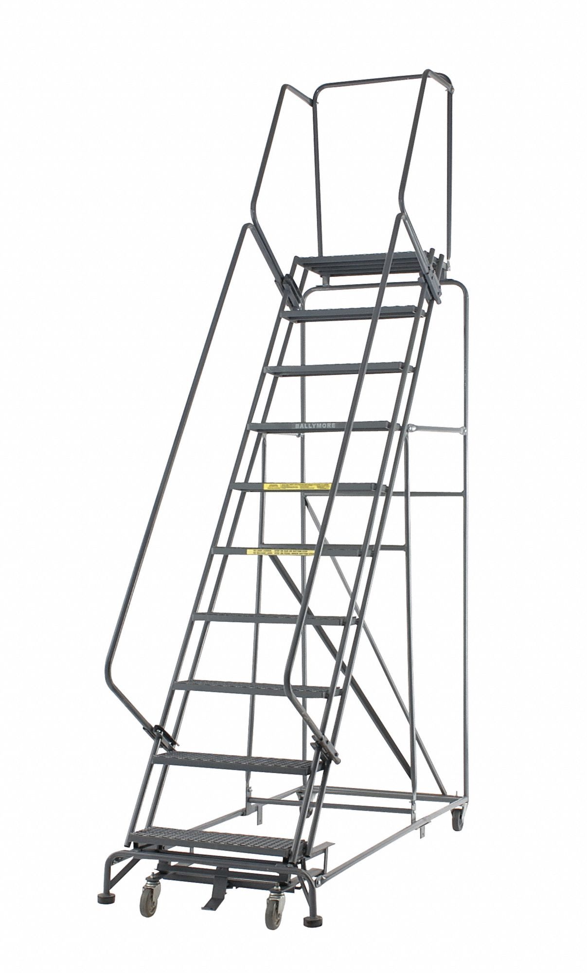 Ballymore 8 Step Rolling Ladder Expanded Metal Step Tread
