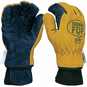 Firefighters Gloves,L,Pigskin Lthr,PR
