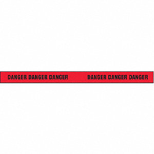 Barricade Tape,Black/Red,500 ft x 3 In