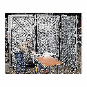 Acoustic Screen,Modular,Gray,4-1/2 x8ft.