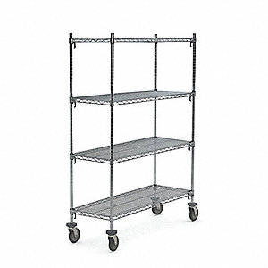 Stock Cart, 900 lb. Load Capacity, (4) Swivel Caster Type