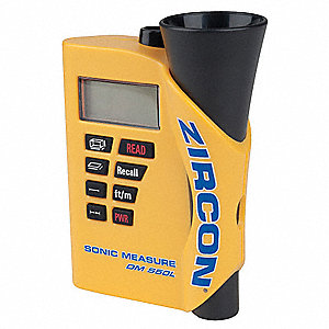 Ultrasonic Distance Meter, 99.5% +/-1 Digit Accuracy, 50 ft. Range