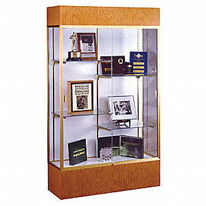 Display Case,Autumn Oak,72x48x16 In