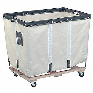 "Permanent Liner Basket Truck, 14.0 Bushel Capacity, 28"" Overall Width, 40"" Overall Length"