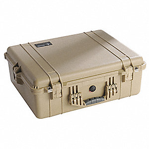 Case,16 In Lx13 In Wx6-7/8 In D,Tan