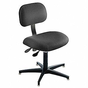 "Black Task Chair, 16 to 21"" Seat Height Range, 300 lb. Weight Capacity"
