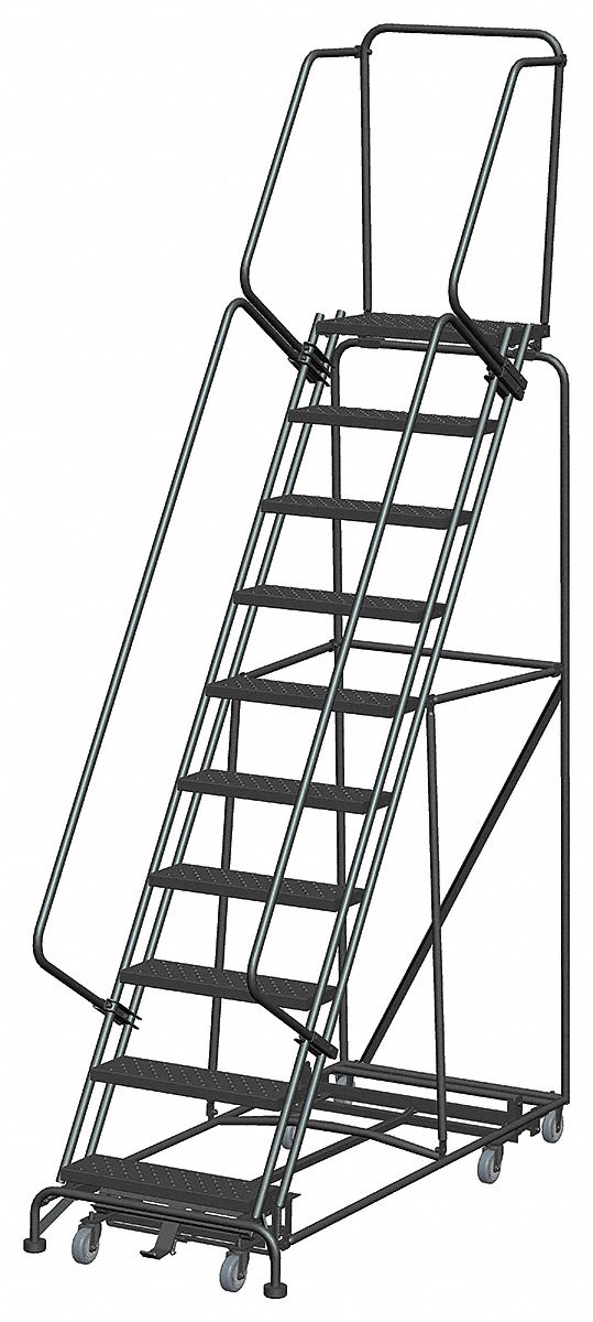 Ballymore 10 Step Rolling Ladder Perforated Step Tread
