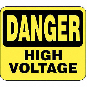 BARRIER POST SIGN DANGER HIGH VOLTAGE 1