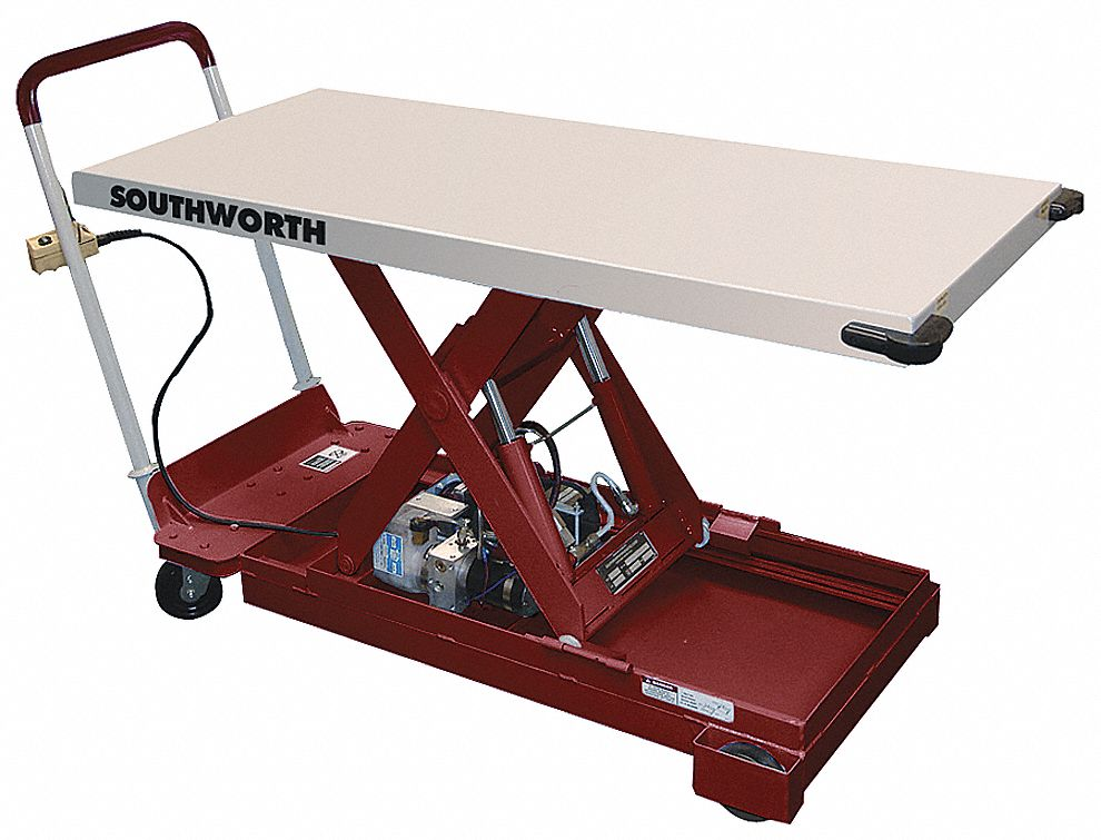 Southworth Mobile Electric Lift Manual Push Scissor Lift