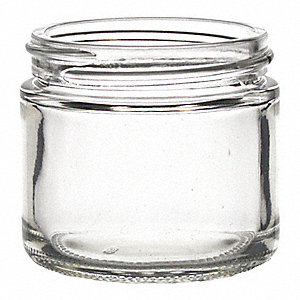 1,000mL Jar, Wide Mouth, Glass, PK 12