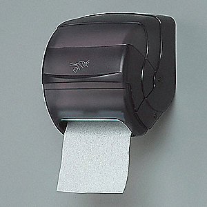 Roll Towel Dispenser,8-1/2 In Dia,Black