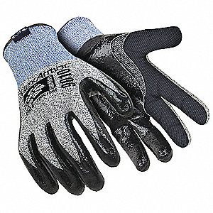 Nitrile, Cut Resistant Gloves, Dyneema® Lining, Gray/Black, XL, PR 1