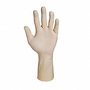 "Neutrals Disposable Gloves, Latex, Powder Free, 8, 7.9 mil Palm Thickness, 12"" Length"