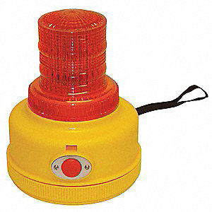 Safety Light,LED,Red,5-1/2InH