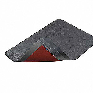 Antifatigue Mat, Rubber, 6 ft. x 4 ft., 1 EA