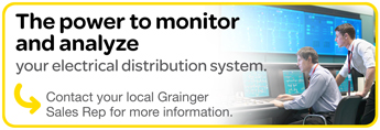 Schneider Electric - The power to monitor and analyze your electrical distribution system.  Contact your local Grainger Sales Rep for more information.