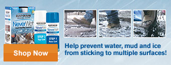 Help prevent water, mud and ice from sticking to multiple surfaces - Shop Now