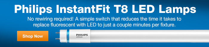 Philips InstantFit T8 LED Lamps