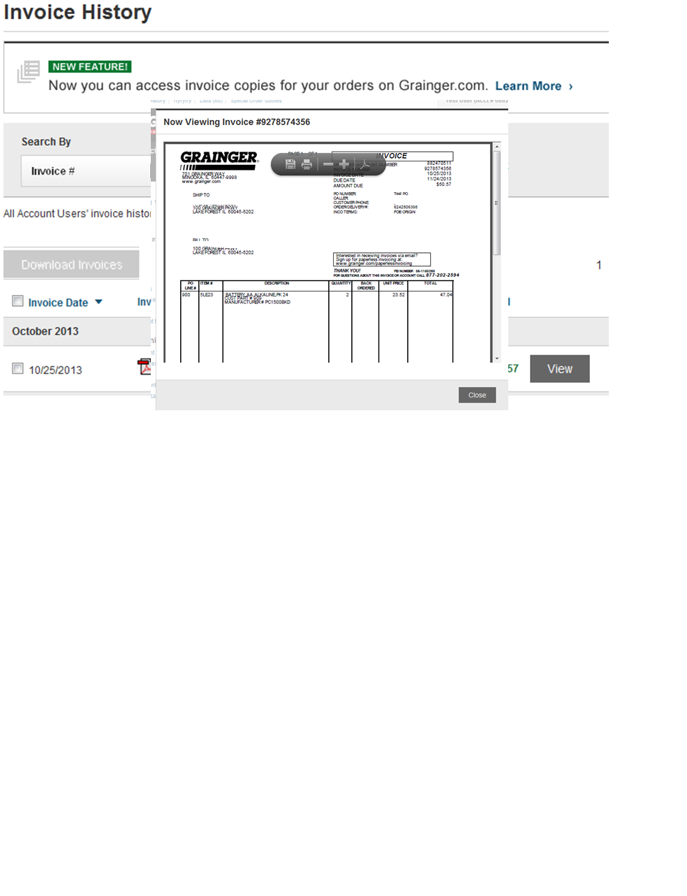 Invoices Online Grainger Industrial Supply - Order invoices online