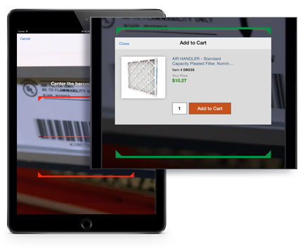 Grainger iPad App Barcode Scanner