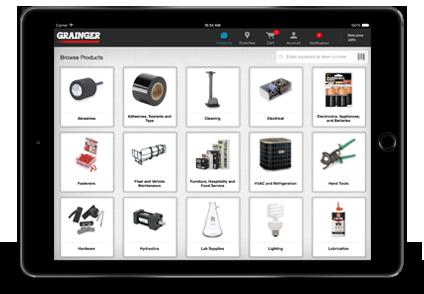 Grainger iPad App Order History